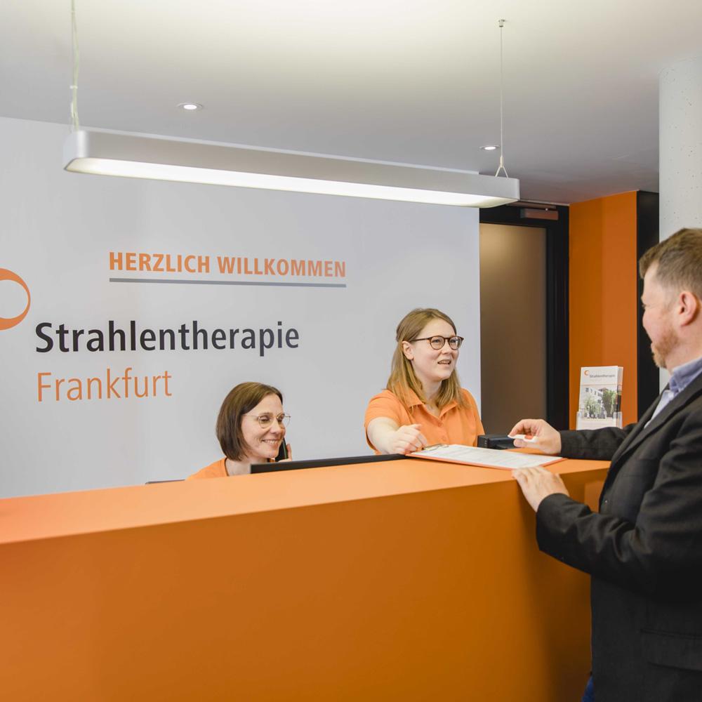 Empfangsbereich - Strahlentherapie Frankfurt