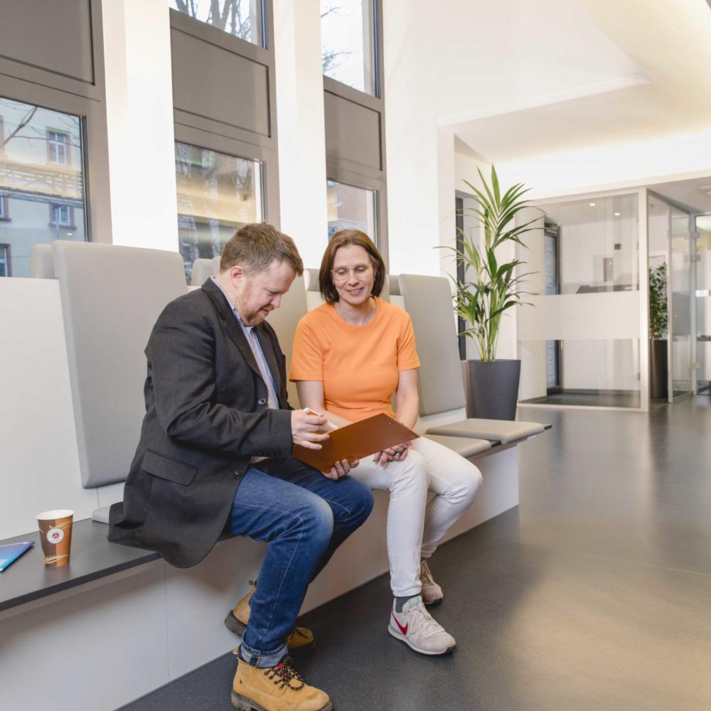 Wartebereich - Strahlentherapie Frankfurt